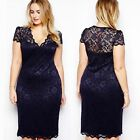 Sexy Lady Cut Cocktail Lace Bodycon Best Formal Dress Evening Party Plus Size