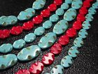 "14x19 / 15x20 / 20x35MM Oval wave Howlite Turquoise  Loose Beads 16""/12pcsT01"