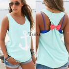 Summer Fashion Womens Anchor Vest Top Sleeveless Blouse Casual Tank Tops T-Shirt