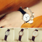 Fashion Women Simple Wrist Watch Vintage Square Round Dial Quartz Wristwatch New