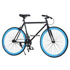 26inch Fixed Gear Single Speed Fixie Bike Road Bicycle High tensile Freewheel US