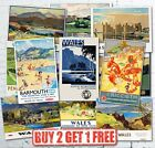 Vintage Popular Welsh Wales British Travel Railway GWR LMS Posters A5/A4/A3/A2