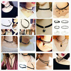New Arrival Fashion Charm Bohemia Sexy Black Leather Choker Necklace Jewelry LA