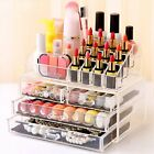 Clear Cosmetic Makeup Organiser Storage Stand Jewellery Display Box Case Drawers