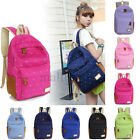 Women Girl Cute Canvas Satchel Backpack Rucksack Travel Shoulder School Bag New