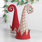 Elf Hat Christmas Tree Topper 18 inches Houndstooth and Red rzchhh 3616376 NEW