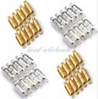 10 Sets Silver Plated/Gold Plated Oval Magnetic Clasps 19mm