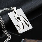 AgentX Stylish Tough Man Necklace Mens Sport Figure Dog Tag Pendant Chain + Bag