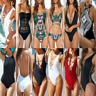 NEW Sexy Women One Piece Swimsuit Bikini Monokini Push Up Padded Top Swimwear FO