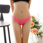 Women Sexy Lingerie Lace Briefs G-string Panties Crotchless Thongs Underwear