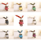 Fashion Bohemian Women Beads Multilayer Chain Owl Jewelry Pendant Necklace