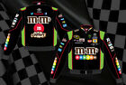 Kyle Busch Nascar Jacket M&M's Crispy Black Green Twill Adult Jacket
