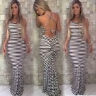 Women Sexy Party Long Backless Bodycon zebra Dress Evening Cocktail Dresses Top