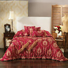 Bernadette Burgundy Jacquard Damask Bedspread Set OR Accessories by Bianca