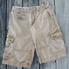 Gap Kid's CARGO SHORTS Stone Washed Rust Colored 100% Cotton - Size 14