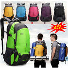 45L Waterproof Outdoor Travel Hiking Large Camping Luggage Rucksack Backpack Bag