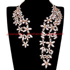 Fashion Jewelry Chain Crystal Choker Chunky Statement Pendant Bib Necklace US