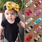 Kids Girl Baby Flower Hair Band Sequined Bow Headband Turban Headwear Xmas cute