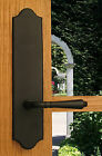 FPL Lavish Privacy Door Lever Set & Back Plates; Bedroom & Bathroom Doors