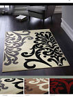 ORIGINS HEAT SET POLYPROPYLENE WOVEN JULIANA DAMASK RUG 3 COLOURS NEW