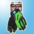 BRAND NEW FRANKLIN 2ND SKINZ LEATHER BATTING GLOVES - YOUTH - BLACK LIME BLUE