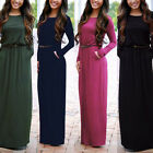 Women Boho Maxi Dress Summer Long Sleeve Evening Cocktail Party Beach Dress