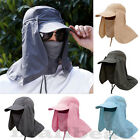 New Outdoor Sport Fishing Hiking Hat UV Protection Face Neck Flap Man Sun Cap