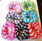 Wide Chevron Infinity Scarf Light Weight  **Brand New**  (7 Different Colors)