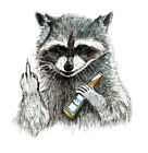Rude Raccoon Sticker Decal Home Office Dorm Wall Exclusive Art Tablet Cell CPU