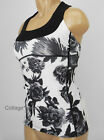NEW LULULEMON Scoop Neck Tank Top Sz 4 Brisk Bloom White Black NWT FREE SHIP