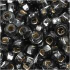 """Czech Seed Beads 8/0 Silver Lined """"Antique Grey"""" (1 Oz)"""