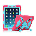 Hybrid Armor Waterproof Shockproof Stand Case Cover for iPad 2/3/4 mini 1/2/3