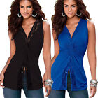 Summer Fashion Women Vest Top Sleeveless Blouse Casual Tank Tops T Shirt Blouse@