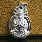 1pcs New Craft Sterling 990 Silver Lucky Bless Thousand-hand Kwan-yin Pendant