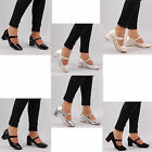 womens mid high heel mary jane fancy formal occasion chunky ladies shoe size