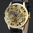 Men Watches Leather Wristwatches Montre Homme Men's Skeleton Mechanical Watch