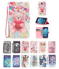 NEW 3D Drawing PU Leather Wallet & Hand Rope Case Cover for Samsung Galaxy S4