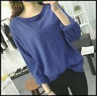 On Sale Womens Loose College Cotton Blend Autumn Spring Tops Casual Shirts Sizes