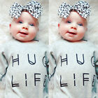 Toddler Baby Boy Girl Clothes Long Sleeve Bodysuit Romper Jumpsuit Outfits 0-24M