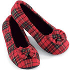 Comfort Plaid Ballet Slippers, by Collections Etc