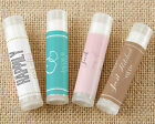 144 PERSONALIZED Coconut Scented Lip Balm Bridal Shower Wedding Favors