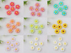 Wholesale 100pcs/300pcs Resin 8 color flower Flatbacks 9x9mm 2F172