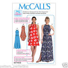 McCall's 7405 Sewing Pattern to MAKE Misses' Gathered-Neckline Dresses with Ties