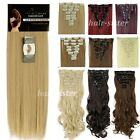 100% NEW Full Head Clip in real natural Hair Extensions human favored hair gn11