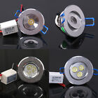 1W 3W LED Cabinet Recessed Ceiling Spot Light Bulb Down Lamp AC 85V~265V Driver