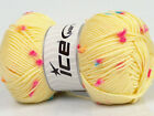 Lot of 4 x 100gr Skeins Ice Yarns BABY DAISY Yarn Yellow Pink Orange Blue