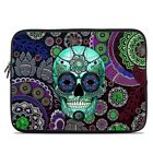 Zipper Sleeve Bag Cover - Sugar Skull Sombrero - Fits Most Laptops + MacBooks