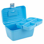 Storage Case Box With Removable Tray Carry Handle Multi Functional Organiser