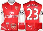 *16 / 17 - PUMA ; ARSENAL HOME SHIRT LS + PATCHES / WELBECK 23 = SIZE*