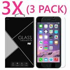 3x Premium Real Clear Tempered Glass Screen Protector For Iphone 7 / 7 Plus